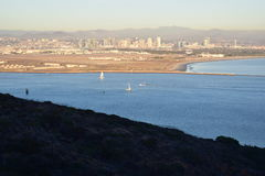vistas de San Diego en el monumento nacional de Cabrillo Imagenes de archivo