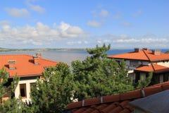 Vistas de Sozopol, año 1014 imagenes de archivo