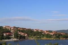 Vistas de Sozopol, ano 1014 foto de stock