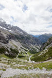 Vistas de Stelvio Pass Foto de Stock Royalty Free