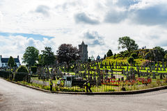 Vistas de Stirling e de monumentos a Robert o Bruce e o William imagens de stock royalty free