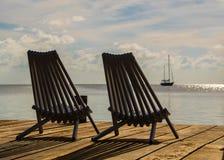Vistas del calafate Belice de Caye foto de archivo
