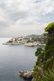 Vistas del complejo del turista en la costa adriática Fotos de archivo libres de regalías