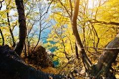 Vistas del hueco de la montaña foto de archivo
