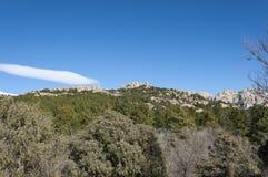 Vistas del La Pedriza, Madrid, España Fotografía de archivo