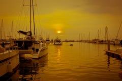 Vistas del puerto Fotos de archivo