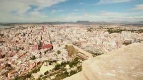 Vistas del puerto de la ciudad de Alicante almacen de metraje de vídeo