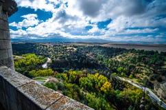 Vistas do Alcazar do castelo, Segovia, Espanha Fotografia de Stock Royalty Free