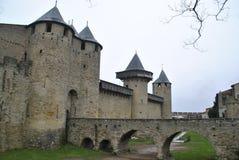 Vistas do castelo de Carcassonne Foto de Stock