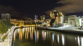 Vistas do museu de guggenheim em Bilbao Imagem de Stock Royalty Free