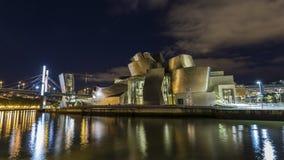 Vistas do museu de guggenheim em Bilbao Fotos de Stock Royalty Free