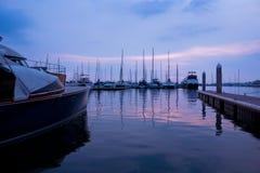 Vistas do porto Fotos de Stock Royalty Free