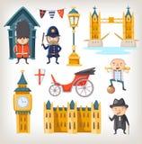 Vistas e povos de Londres ilustração royalty free