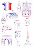 Vistas e símbolos de France ilustração do vetor