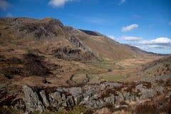 Vistas em torno do vale de Ogwen Fotografia de Stock