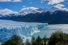 Vistas escénicas de Glaciar Perito Moreno, EL Calafate, la Argentina foto de archivo libre de regalías