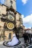 Vistas exteriores de edificios en Praga Fotografía de archivo libre de regalías
