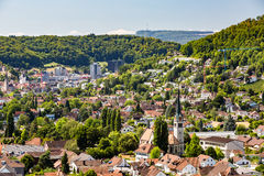 Vistas exteriores do St Sebastian Church de Wettingen Foto de Stock Royalty Free