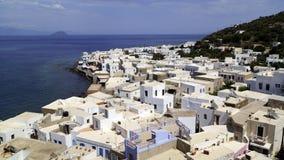 Vistas maravilhosas da cidade Mandraki Fotos de Stock Royalty Free