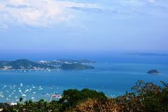 Vistas maravillosas de la bahía de Phuket Imagen de archivo