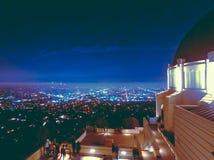 Vistas nocturnas del observatorio de griffith imagen de archivo libre de regalías