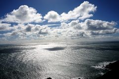 Vistas oceânicos sem fôlego imagens de stock