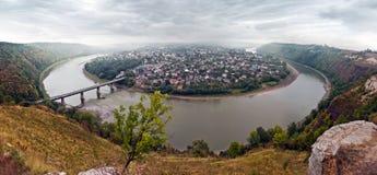 Vistas panorámicas del río Dniéster Foto de archivo