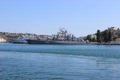 Vistas panorâmicas da baía de Sevastopol imagens de stock royalty free