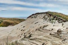 Vistas panorâmicas lituanas das dunas foto de stock