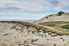 Vistas panorâmicas lituanas das dunas imagens de stock royalty free