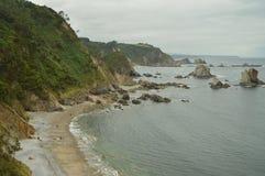 Vistas panorâmicas maravilhosas da praia do silêncio imagem de stock