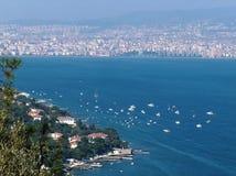 vistas superiores del Bosphorus Fotografía de archivo