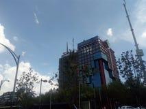 Vistas urbanas Construções da cidade fotografia de stock royalty free