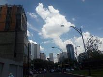 Vistas urbanas Construções da cidade fotografia de stock
