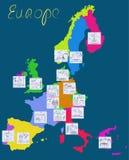 Vistas y símbolos de Europa. libre illustration