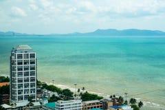Viste adorabili della spiaggia di Pattaya Immagine Stock