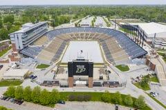 Viste aeree di Ross-Ade Stadium On The Campus del Purdue University fotografia stock libera da diritti