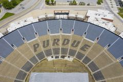 Viste aeree di Ross-Ade Stadium On The Campus del Purdue University fotografie stock libere da diritti