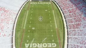 Viste aeree di Sanford Stadium immagini stock libere da diritti