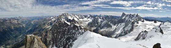 Viste alpine panoramiche Fotografia Stock