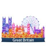 Viste BRITANNICHE illustrazione vettoriale
