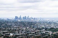 Viste da Griffith Observatory sopra Los Angeles, U.S.A. fotografia stock