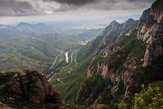 Viste da Montserrat, Spagna Immagini Stock Libere da Diritti