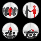 Viste dalla portata del tiratore franco Immagine Stock Libera da Diritti