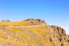 Viste dalla strada di Ridge della traccia a Rocky Mountains Immagini Stock