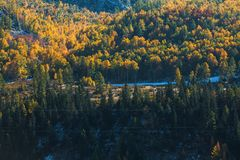 Viste dei paesaggi della montagna di autunno della Repubblica di Altai Immagine Stock Libera da Diritti