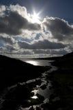 Viste del bacino idrico di Grimwith Fotografie Stock Libere da Diritti