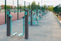 Viste del campo sportivo per l'allenamento della via Fotografie Stock Libere da Diritti