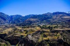 Viste del canyon di Colca Fotografia Stock Libera da Diritti