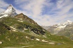 Viste del Cervino - alpi svizzere Fotografia Stock